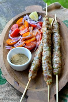 Celebrate grilling season with these wonderfully succulent, beautifully flavored and easy to make Chicken Seekh Kebabs! Kebab Recipes, Indian Food Recipes, Veg Recipes, Chicken Recipes, Chaat Masala, Garam Masala, Seekh Kebabs, Chicken Kabobs, Grilled Chicken