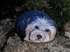 Yorkshire terrier www.galets-peints.fr