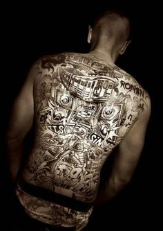Bad Ass back tattoo