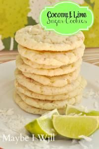 coconut lime sugar cookies on MyRecipeMagic.com. These are the yummiest cookies ever!