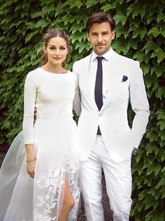 Here comes the bride, all dressed in shorts! Olivia Palermo wore a custom (and unexpected) look by Caroline Herrera on her big day. Click through for the details on her gorgeous bridal hair and makeup!