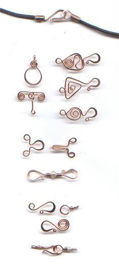 Wire clasp inspiration plus a free tutorial for an egyptian spiral clasp: The WireWorkers Guild