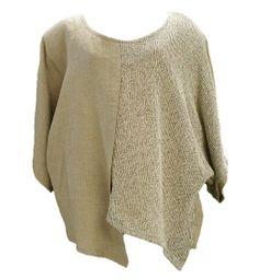 AKH Fashion Lagenlook Leinenpullover Shirt in sand XXL Mode bei www.modeolymp.lafeo.de