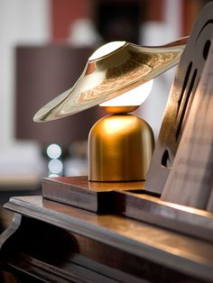 This lamp has a stylish brass look. Learn more about it at LightsOnline Blog!