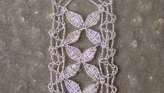 Unique Pure Silver Pendant worked in the Maltese Bobbin Lace Technique. Amazing Idea!