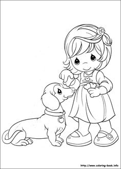 coloring page Precious moments on Kids-n-Fun. Coloring pages of Precious moments on Kids-n-Fun. More than coloring pages. At Kids-n-Fun you will always find the nicest coloring pages first! Disney Coloring Pages, Coloring Book Pages, Printable Coloring Pages, Coloring Pages For Kids, Coloring Sheets, Precious Moments Coloring Pages, Girl And Dog, Digital Stamps, Christmas Colors