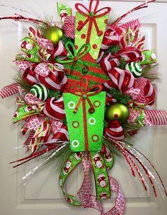 2013 Glitter Christmas Deco Mesh Wreath, Christmas Mesh Wreath Decor Ideas, Glitter Christmas Door Decorations