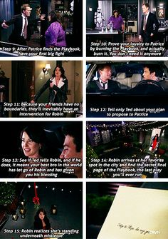 """The Robin"" Best. Play. Ever. I felt bad for Ted although but this destiny believer heck gotta move on to find his true wifey!  Himym Barney and Robin ♥"