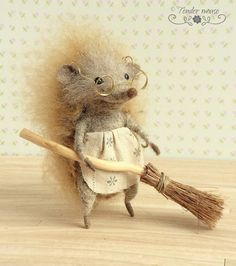 Your place to buy and sell all things handmade Hedgehog Craft, Cute Hedgehog, Needle Felted Animals, Felt Animals, 3d Figures, Needle Felting Tutorials, Felt Mouse, Cute Mouse, Felt Hearts