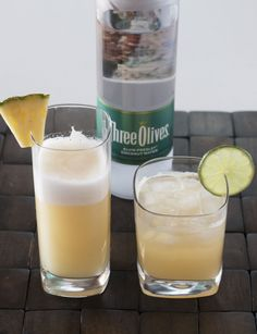 Shake, Rattle, & Roll Cocktail with Three Olives Elvis Presley Coconut Water Vodka - Cake 'n Knife