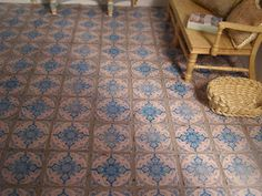 Hello again! Some weeks ago, I promised on request to show how to make the tile floors, since I was going to make one for Petit Brocante. I...