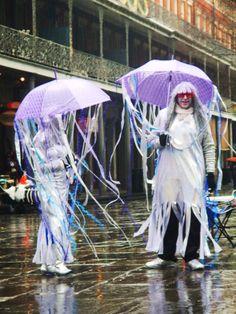 Jellyfish at Mardi Gras Festival Costumes, Jellyfish, Mardi Gras, Party Ideas, Events, Festival Outfits, Carnival, Medusa, Ideas Party