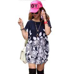 21 Colors Print Women Casual Maxi T Shirt Quality Women's Short Sleeve Summer Tops Cotton Leisure O- Neck