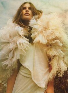via glamandvanity:  Catherine McNeil in 'Come As You Are'  Photographer: Greg Kadel  Dress: Givenchy F/W 2009/10  Vogue Australia September 2009
