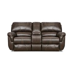 Simmons® Bucaneer Cocoa Reclining Console Loveseat at Big Lots. for the game room