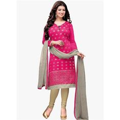 Buy Pink Chanderi cotton Embroidered Designer Churidar Suit by  Louis Vogue, on Paytm, Price: Rs.849?utm_medium=pintrest