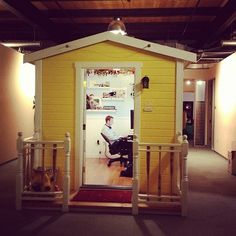 Letting staff design their own section of a larger office can be a great way to make your employees feel valued and respected, and allows them to create a space in which they feel motivated and inspired. Pixar is famous for its' unusual offices, where staff work in small huts and can choose to decorate them in any way they choose. Pixar, pictured above, is famous for its' unusual offices, where staff work in small huts and can choose to decorate them in any way they. choose.
