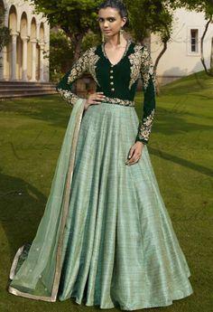 Green Velvet Designer Palazzo Salwar Kameez..@ fashionsbyindia.com #designs #indian #fashion #womens #style #cloths #fashion #stylish #casual #fashionsbyindia #punjabi #suits #wedding #salwar #kameez #chic #outfits #anarkali