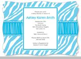 Zebra baby shower invitation