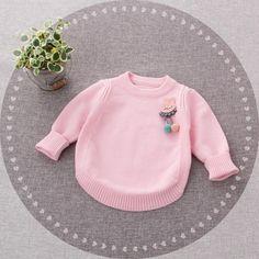 61476114ab9 Baby Girl Cartoon Knitting Princess Sweater Tops Clothes