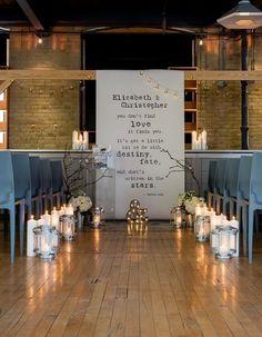 Chic Industrial Wedding Reception Ideas / http://www.deerpearlflowers.com/industrial-wedding-ceremony-decor-ideas/2/
