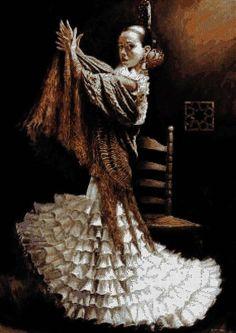 FLAMENCO: Bailaora de flamenco (Gráfico y Kit de punto de cruz) tiendapuntodecruz.mislabores.com425 × 600Buscar por imagen FLAMENCO: Bailaora de flamenco  gonzalo conradi pintor - Buscar con Google