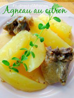 C'est un plat familial, digne d'une table du dimanche que je partage avec vous aujourd'hui : de l'agneau accompagné de pommes de terre, liés par une sauce au citron. On préfèrera couper les pommes de terre