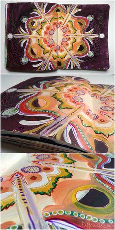 intuitive #mandala art journaling (mandala blog hop)