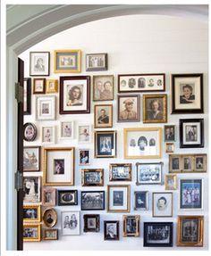 vintage photographs wall