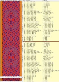 32 tarjetas, 4 colores, repite cada 34 movimientos // sed_814b diseñado en GTT༺❁