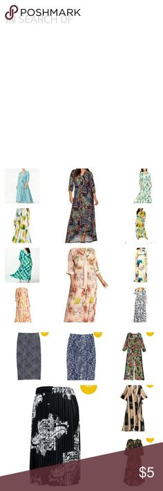 In Search Of These are the items/styles I'm looking for. Let me know if you have any of these. Melissa McCarthy Seven7 Dresses