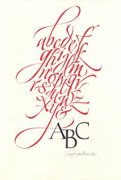 Luca Barcellona alphabet