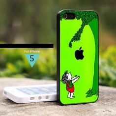 CA-0174 The Giving Tree Black Apple - For iPhone 5 Case, Hard Cover