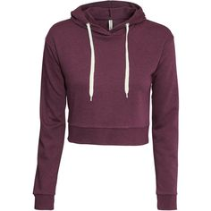 H&M Short hooded top found on Polyvore