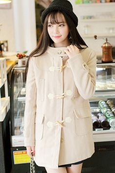 Classic Toggle Hooded Coat OASAP.com
