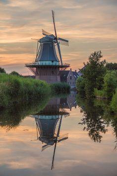 Flour mill De Gouden Engel, Alkmaar-Koedijk, the Netherlands.