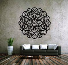 6011 mandala Om ornamento de Namaste Yoga decalque Menhdi flor padrão Om indiano sala de adesivos de parede