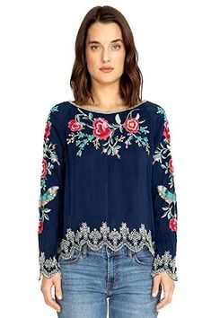 NEW RRP £139 POETRY 100/% SILK BLOUSE Tunic Shirt Top Navy Blue UK 10 12 20 24