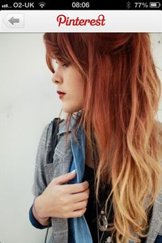 Are you a fan of red ombre hair? Have you been looking for instructions on how to pull it off? Use this tutorial to come up with awesome red ombre hair Hair Blond, Red Ombre Hair, Red To Blonde, Orange Ombre, Blonde Color, Red Hair With Blonde Tips, Brunette Ombre, Blonde Roots, Ombre Brown