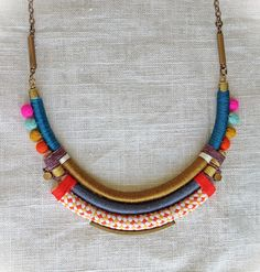 The ISADORA Necklace Color Study No. 34 par NestoftheBluebird, $72.00