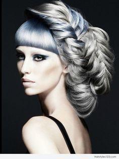 avant garde bridal hair   Avant Garde Braids Hairstyle