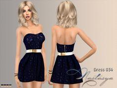 Nastas`ya: Dress 034 • Sims 4 Downloads