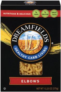 Dreamfields Pasta Healthy Carb Living, Elbow Macaroni, 13.25-Ounce Boxes (Pack of 6) Dreamfields http://www.amazon.com/dp/B004YN7VYM/ref=cm_sw_r_pi_dp_6p.Tub0JPP1EV