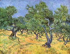 Olive Trees by Van Gogh.  Order from DEKORAMI as a poster, canvas print, mural. Zamów jako  obraz na płótnie, plakat lub fototapetę na DEKORAMI.pl.