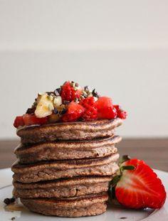 Pancakes à la farine de coco (sans gluten & lactose)