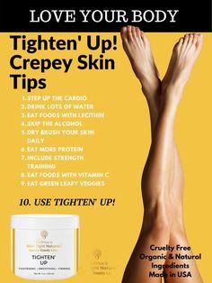 Tighten Skin After Weight Loss Skin Tips, Skin Care Tips, Skin Tightening Lotion, Crepe Skin, Tighten Loose Skin, Cellulite Remedies, Wrinkled Skin, Dry Brushing, Face Skin