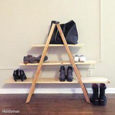 14 Smart Modern Shoe Storage Solutions to Get Rid of Shoe Piles Best Shoe Storage Ideas .Smart shoe storage ideas for your home Diy Shoe Storage, Diy Shoe Rack, Cord Storage, Garage Storage, Storage Ideas, Shoe Racks, Shelving Ideas, Smart Storage, Bedroom Storage