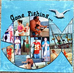 Gone Fishing - Scrapbook.com.  Like the simplicity of this layout.