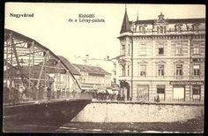 El puentes Körös en 1907 con el edificio modernista Lévay