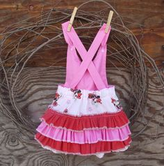 Baby Girl Pink ruffled romper Minnie Print with by SouthernSister2, $25.00